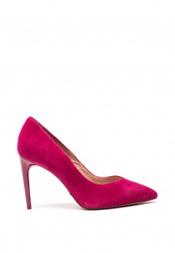 Tamaris Suede Point Court Shoes, Deep Pink