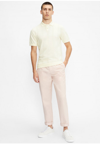 Ted Baker Youfroz Textured Polo Shirt, Cream