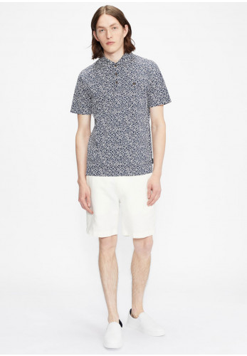 Ted Baker Micsup Small Scale Print Polo Shirt, Navy