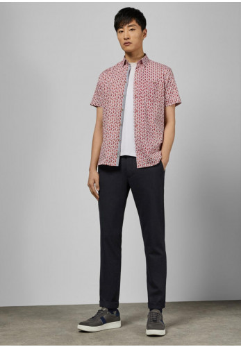 Ted Baker Short Sleeve Floral Shirt, Red