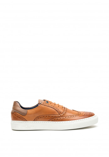 Ted Baker Dennton Leather Brogue Trainer, Tan