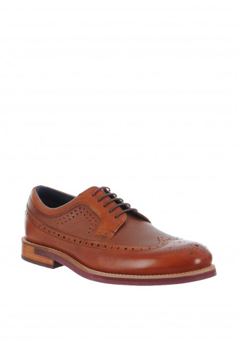 Ted Baker Deelani Brogue Leather Shoe, Tan