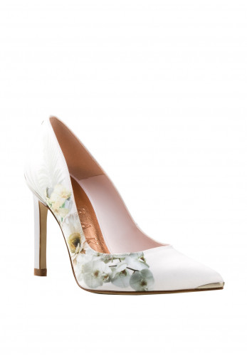 Ted Baker Ladies Satin Floral Mwelin Heels, Pink