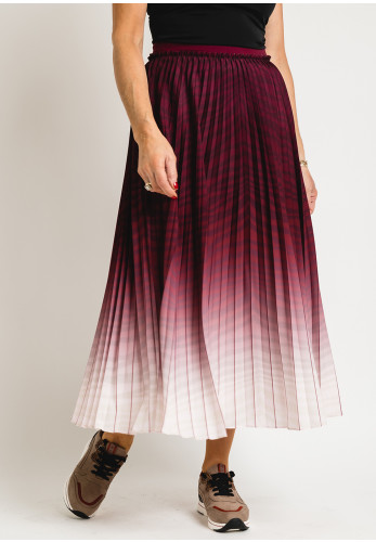 Ted Baker Womens Poliina Pleated Ombre Skirt, Oxblood