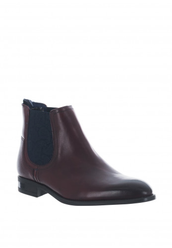 Ted Baker Travic Leather Chelsea Boot, Dark Red