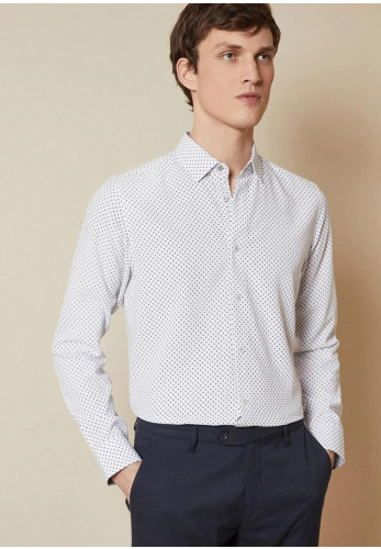 Ted Baker Rokabi Geo Print Long Sleeve Shirt, White