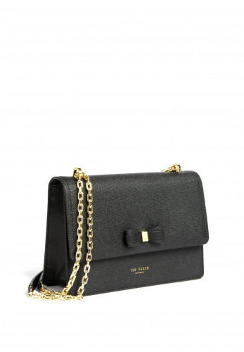 Ted Baker Arttie Bow Chain Leather Bag, Black
