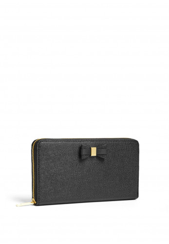 Ted Baker Aubriee Bow Zip Around Large Purse, Black