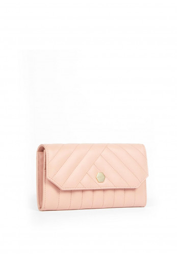 Ted Baker Selbet Quilted Envelope Purse, Mid-Pink