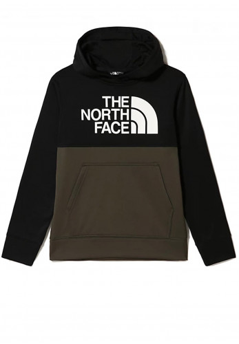 The North Face Kids Surgent Hoodie, Black Green