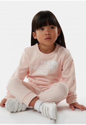 The North Face Mini Girls Surg Crew Tracksuit, Blush