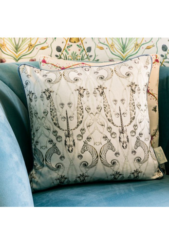 The Chateau Des Animaux 43 x 43cm Feather Cushion, White