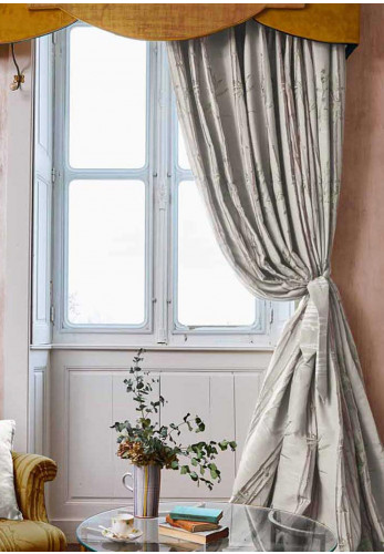 "The Chateau Bamboo Natural 66 X 72"" Pencil Pleat Curtain Pair, Taupe"