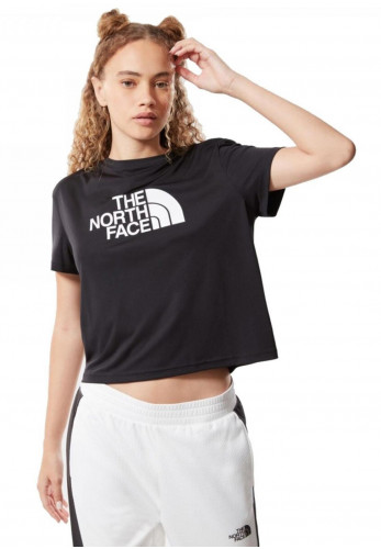 The North Face Women's Mountain Athletics Cropped T-Shirt, Black