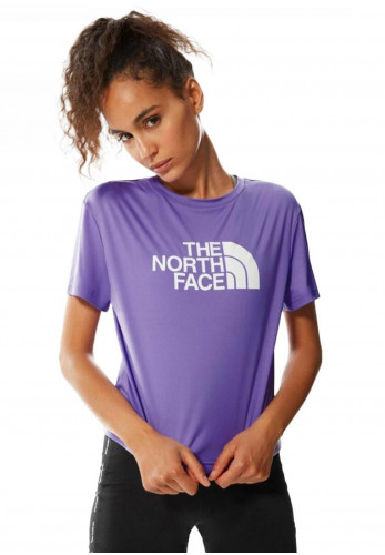 The North Face Women's Mountain Athletics Cropped T-Shirt, Purple