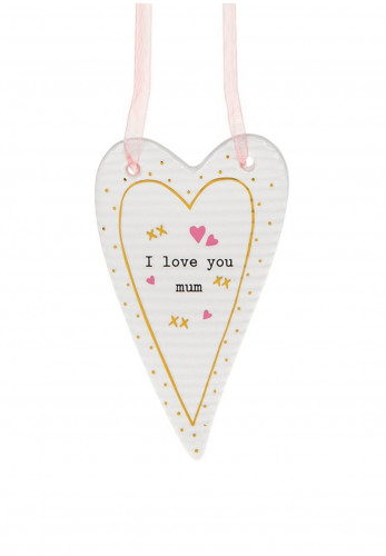 Thoughtful Words Heart Hanging Plaque Love Mum