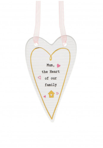 Thoughtful Words Heart Hanging Plaque Mum Family