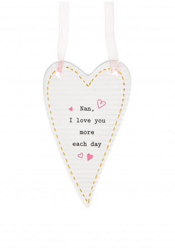Thoughtful Words Heart Hanging Plaque Nan Love