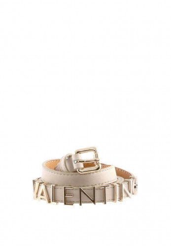 Valentino Emma Winter Belt, Ecru