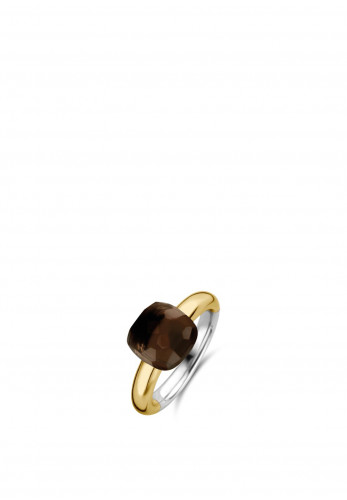 Ti Sento Milano Duo Plated Tortoise Brown Ring