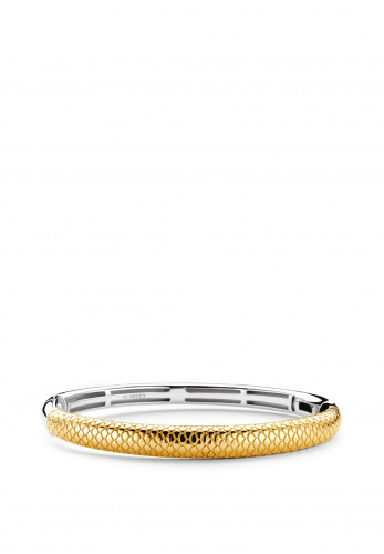 Ti Sento Milano Snake Skin Bangle, Gold & Silver