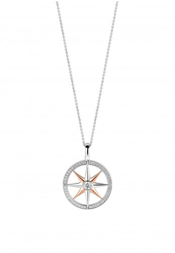 Ti Sento Rose-Gold Star Necklace