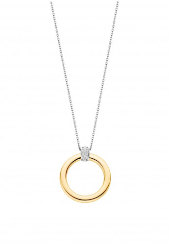 Ti Sento Round Yellow-Gold Plated Pendant Necklace
