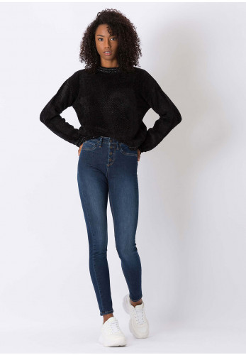 Tiffosi One Size Fits All High Skinny Jeans, Dark Blue