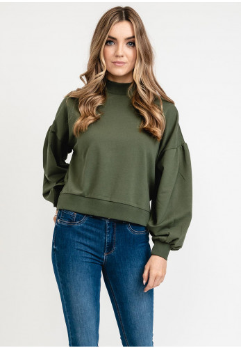 Tiffosi Andy Relaxed Crop Sweater, Green