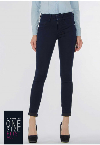 Tiffosi Womens One Size Double Up Skinny Jeans, Navy