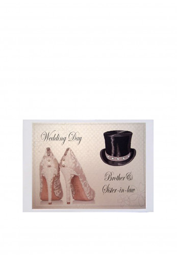 Georgie Tiny Wedding Album Brother and Sister-in-law, White