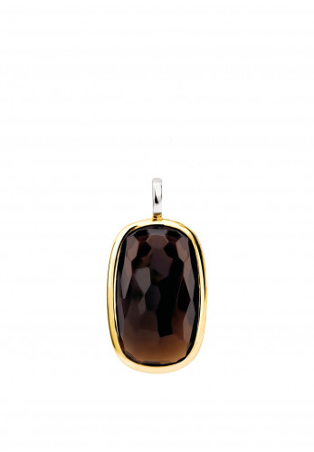 Ti Sento Rectangular Stone Pendant, Brown