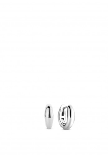 Ti Sento Small Oval Hoop Earrings, Silver