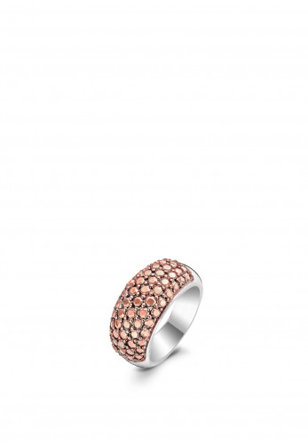 Ti Sento Milano Rose Gold Embellished Ring