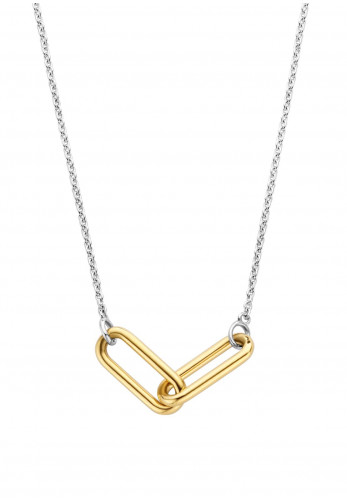 Ti Sento Milano Connected Links Chain Necklace, Gold & Silver