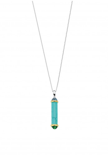 Ti Sento Milano Tube Shaped Stone Pendant, Blue