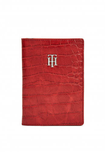 Tommy Hilfiger Giftpack Passport Holder AW0AW08888, Red