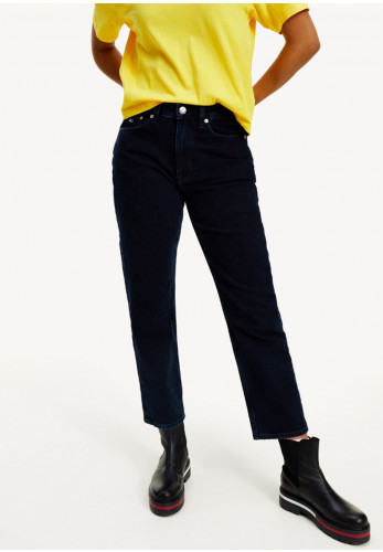 Tommy Jeans Womens Harper Straight Ankle Jeans, Navy