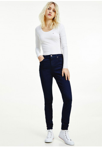 Tommy Jeans Sylvia High Rise Super Skinny Jeans, Navy