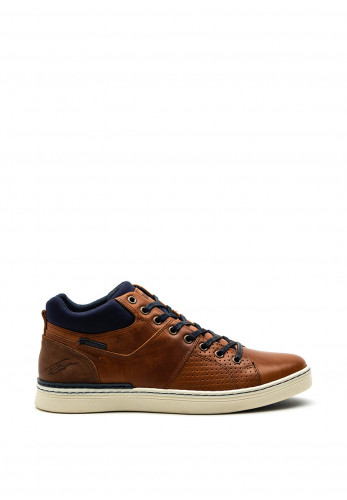 Tommy Bowe Cronin Leather Trainer, Pecan Spice
