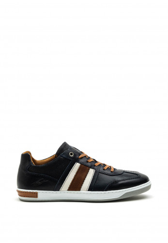 Tommy Bowe Roux Leather Trainer, Deep Ocean