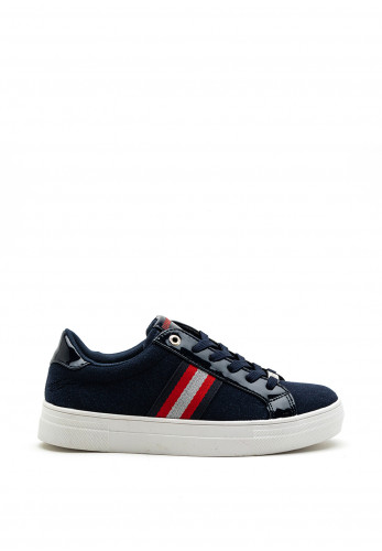Tommy Bowe Ladies Fitzhenry Chunky Sole Trainer, Navy