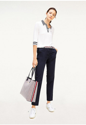 Tommy Hilfiger Women's Tencel Belted Chinos, Navy