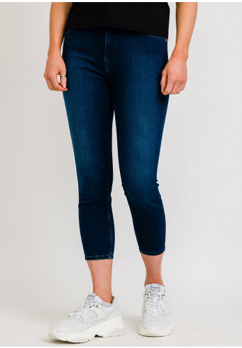 Tommy Jeans Womens Dynamic Stretch Skinny Jeans, Dark Blue Denim