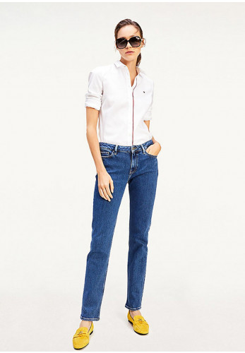 Tommy Hilfiger Women's Rome Straight Jeans, Blue