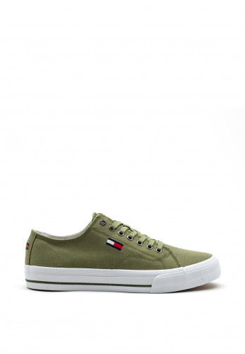 Tommy Jeans Low Top Trainers, Clean Green