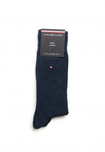 Tommy Hilfiger Mens 2 Pack Cotton Blend Socks, Jeans