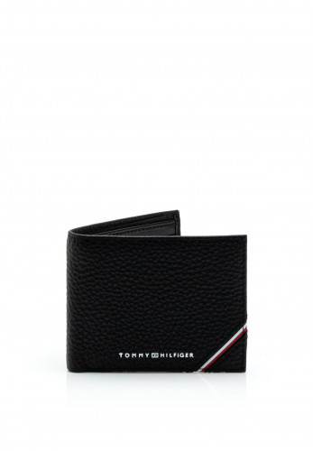 Tommy Hilfiger Downtown Leather Mini Credit Card Wallet, Black