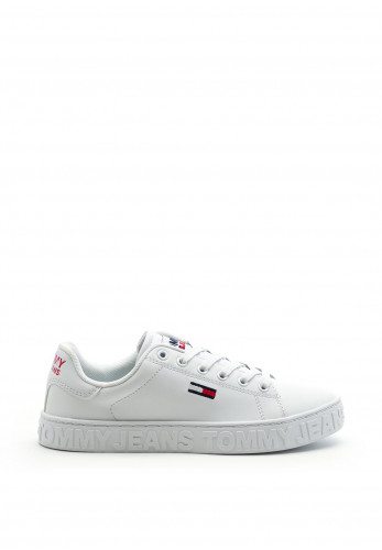 Tommy Jeans Womens Metallic Logo Trainers, White