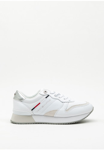 Tommy Hilfiger Womens Lace Up Chunky Trainer, White